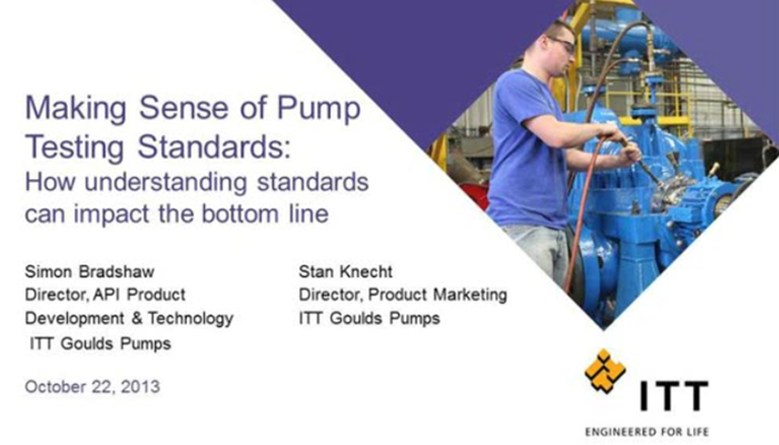 Making Sense of Pump Testing Standards