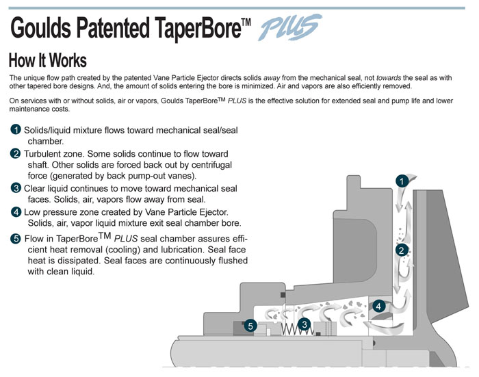 Goulds Patented TaperBore Plus