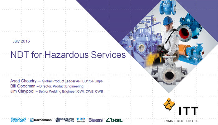 NDT for Hazardous Services
